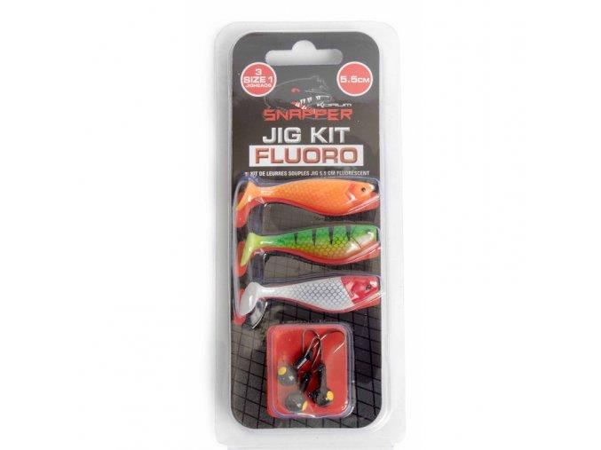 Snapper Jig Kit 5,5 cm fluoro