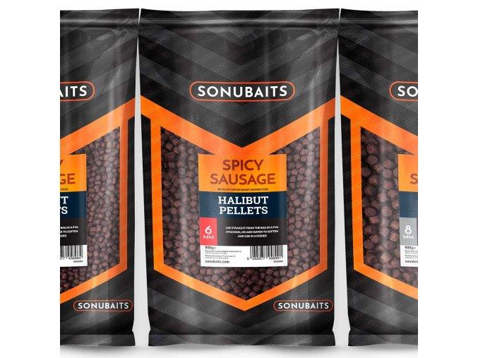 halibut pellets spicy sausage