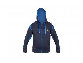 navy zip front hoodie 1