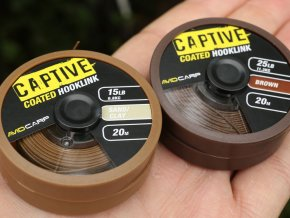 Captive Coated Hooklink - Brown